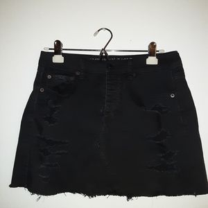 American Eagle Outfitters Black mini jean skirt